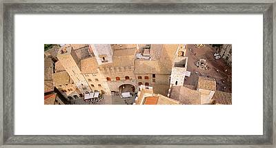 High Angle View Of Houses, San Framed Print by Panoramic Images