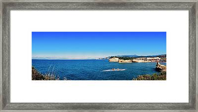 High Angle View Of Ionian Sea, Corfu Framed Print by Panoramic Images
