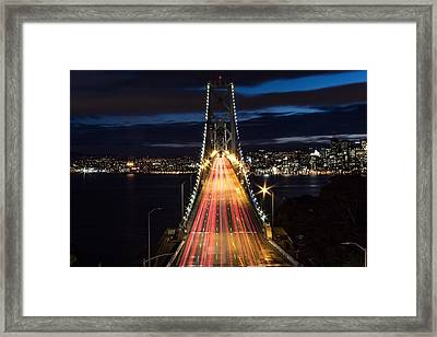 High Angle View Of Light Trails Framed Print by Lars Krafft / Eyeem