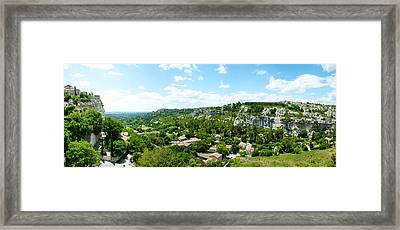 High Angle View Of Limestone Hills Framed Print by Panoramic Images