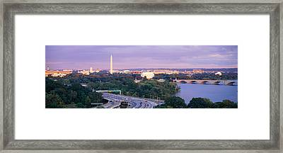High Angle View Of Monuments, Potomac Framed Print by Panoramic Images