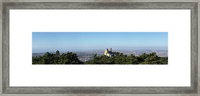High Angle View Of Pena National Framed Print