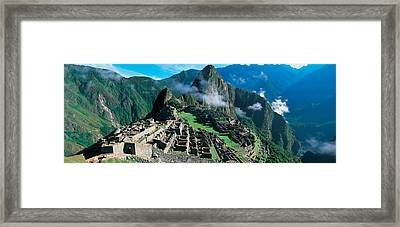 High Angle View Of Ruins Of Ancient Framed Print by Panoramic Images
