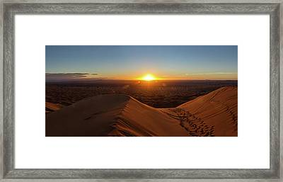 High Angle View Of Sahara Desert Framed Print