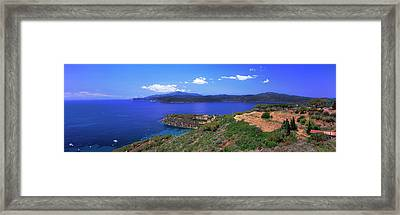 High Angle View Of Sea, Golfo Stella Framed Print