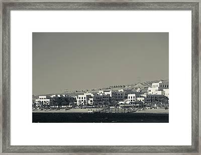 High Angle View Of Tala Harbor Framed Print