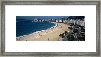 High Angle View Of The Beach, Rid De Framed Print by Panoramic Images