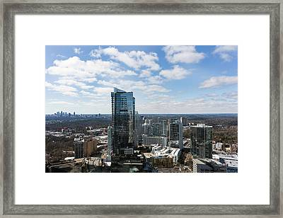 High Angle View Of The Buckhead Framed Print