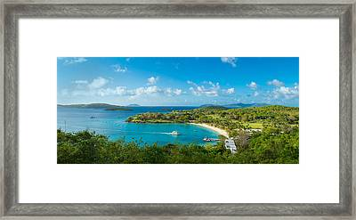 High Angle View Of The Caneel Bay, St Framed Print by Panoramic Images