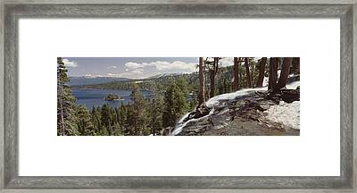 High Angle View Of The Eagle Falls Framed Print by Panoramic Images