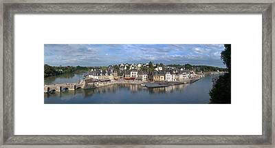 High Angle View Of The Medieval Town Framed Print