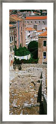 High Angle View Of The Old Ruins Framed Print