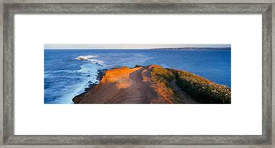 High Angle View Of The Sea From A Framed Print by Panoramic Images