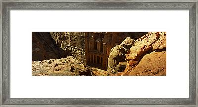 High Angle View Of The Treasury, Wadi Framed Print by Panoramic Images