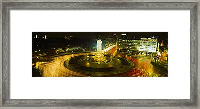High Angle View Of Traffic Moving Framed Print by Panoramic Images