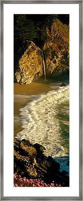 High Angle View Of Waterfall Framed Print by Panoramic Images