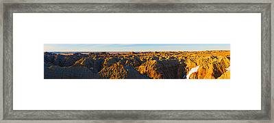 High Angle View Of White River Overlook Framed Print