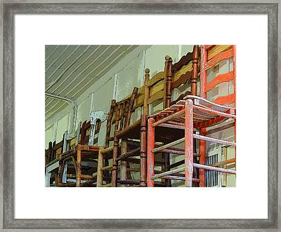 High Chairs Framed Print by Donna Lee Young
