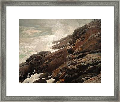 High Cliff Coast Of Maine 1894 Framed Print by Philip Ralley