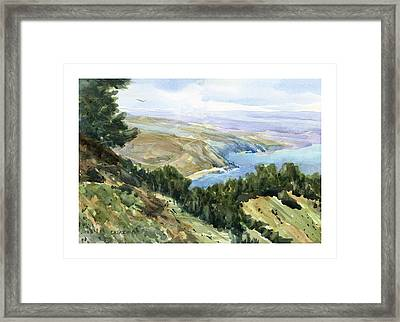 High Coastal View Framed Print