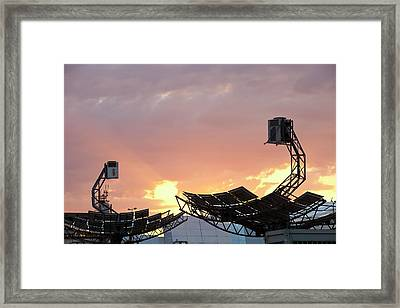 High Concentration Photo Voltaic Panels Framed Print