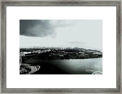 High Contrast Singapore Storm Framed Print by Greg Cross