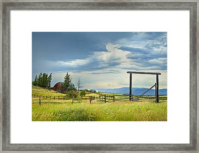 High Country Farm Framed Print