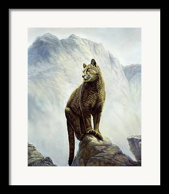 Puma Digital Art Framed Prints