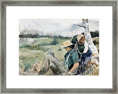High Country Rest Stop Framed Print