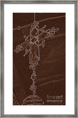 High Cross Up Above  Framed Print by ARTography by Pamela Smale Williams