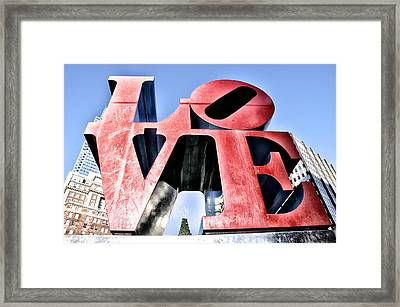 High Definition Love Framed Print