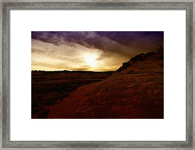 High Desert Clouds Framed Print by Jeff Swan