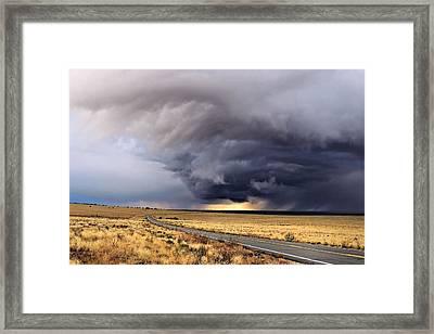 High Desert Drama Framed Print