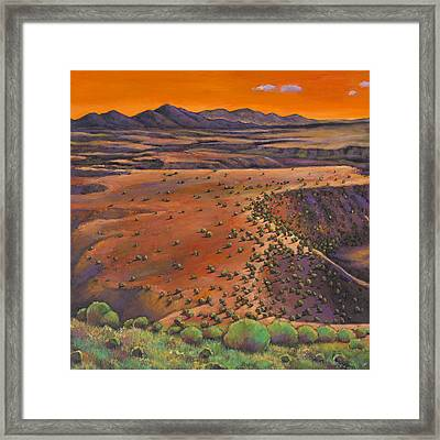 High Desert Evening Framed Print