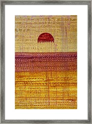 High Desert Horizon Original Painting Framed Print by Sol Luckman