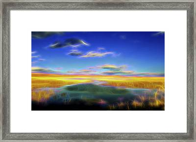 High Desert Lake Framed Print by William Horden