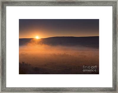 High Desert Morning Mist Framed Print by Mike  Dawson