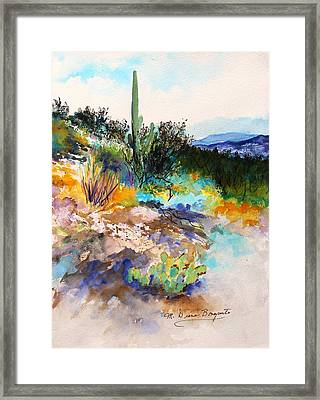 High Desert Scene 2 Framed Print by M Diane Bonaparte