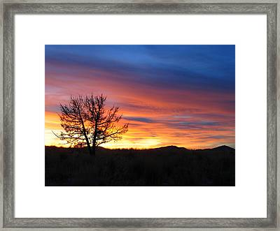 High Desert Sunset Framed Print