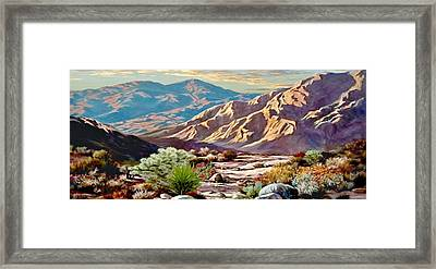 High Desert Wash Framed Print