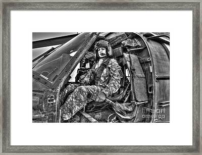 High Dynamic Range Image Of A Woman Framed Print