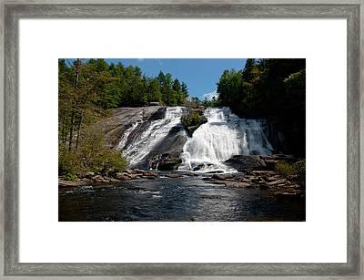 High Falls North Carolina Framed Print by Charles Beeler