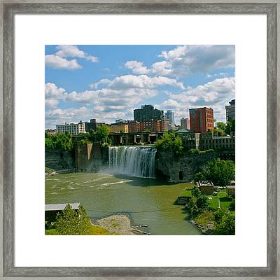 High Falls Rochester  Framed Print by Justin Connor