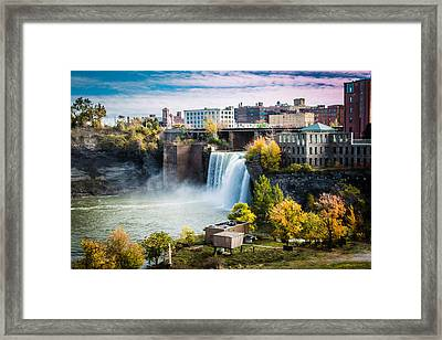 High Falls Rochester Framed Print