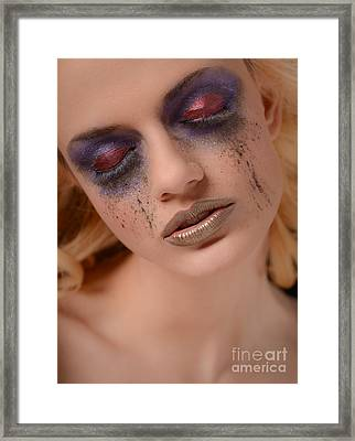 High Fashion Makeup Framed Print by Jt PhotoDesign
