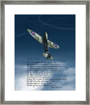 High Flight Framed Print by Hangar B Productions