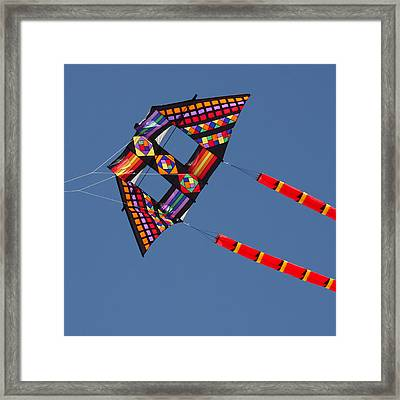 High Flying Kite Framed Print by Art Block Collections