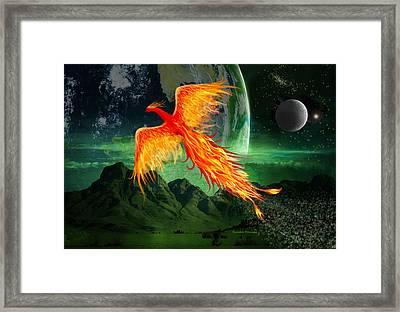 High Flying Phoenix Framed Print