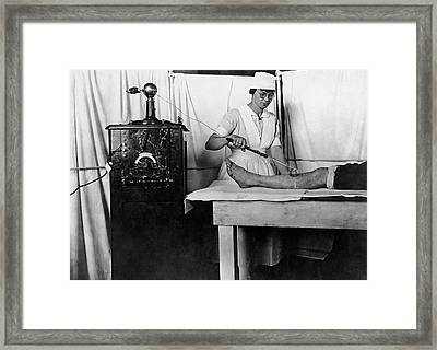 High Frequency Vacuum Treatment Framed Print by Otis Historical Archives, National Museum Of Health And Medicine