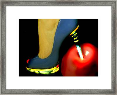High Heel Framed Print by Christine Sponchia